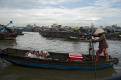 Marché de flottement de Can Tho (1) Image libre de droits