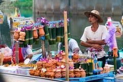 Marché de flottement de Hat Yai image libre de droits