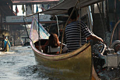 Marché de flottement de la Thaïlande Images libres de droits