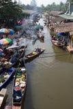 Marché de flottement de la Thaïlande Photo stock