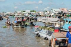Marché de flottement du Mékong Image libre de droits