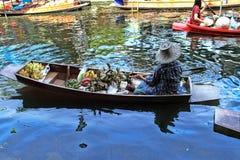 Marché de flottement traditionnel, Bangkok, Thaïlande image libre de droits