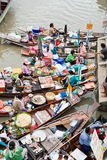 Marché de flottement traditionnel, Thaïlande. Images libres de droits