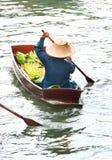 Marché de flottement traditionnel, Thaïlande. image libre de droits