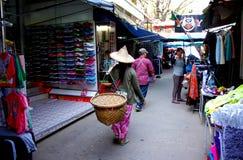 Marché de frontière de Tachilek, Myanmar Image stock