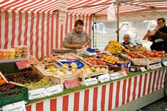 Marché de fruit allemand Photo stock