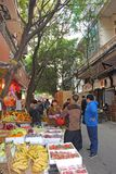Marché de fruit en Chine Image libre de droits