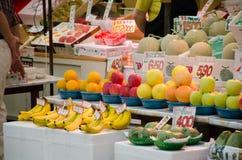 Marché de fruit japonais Images libres de droits