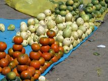 Marché de fruit local en San Cristóbal Mexique Image stock