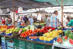 Marché de fruits et légumes dans Pollenca à l'île de Majorque (Majorca), Espagne Image stock