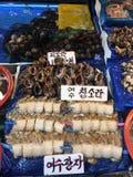 Marché de fruits de mer de la Corée image stock