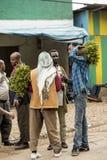 Marché de Khat Images libres de droits