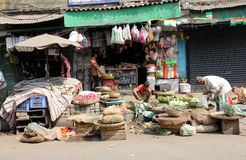Marché de légume de Kolkata Image stock