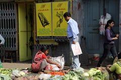Marché de légume de Kolkata Images stock