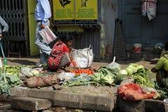 Marché de légume de Kolkata Photographie stock