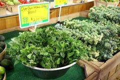 Marché de légumes frais et d'agriculteurs Photographie stock libre de droits