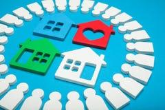 Marché de l'immobilier, évaluation à la maison photographie stock