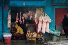Marché de la viande Photos stock