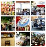 Marché de marche Chiang Mai Thaïlande de nuit de rue Image stock