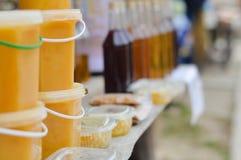 Marché de miel Photographie stock