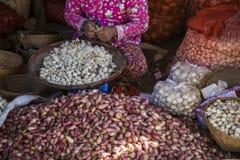Marché de Myanmar Photos stock