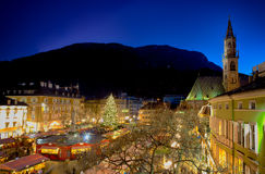 Marché de Noël à Bolzano Photo stock