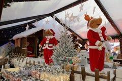 Marché de Noël à Bruxelles sur la place de Catherine de saint Photographie stock