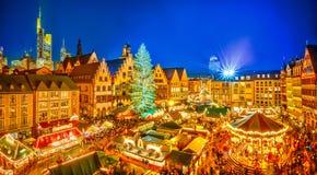 Marché de Noël à Francfort image libre de droits