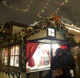 Marché de Noël à Moscou Photographie stock libre de droits