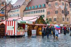Marché de Noël à Nuremberg, Bavière Photographie stock libre de droits