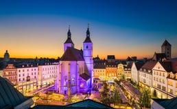 Marché de Noël à Ratisbonne, Allemagne Photos libres de droits