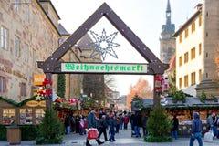 Marché de Noël à Stuttgart image libre de droits
