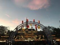 Marché de Noël à Vienne, Autriche images stock