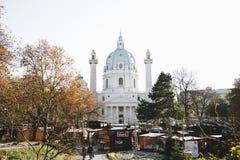 Marché de Noël à Vienne Autriche images stock