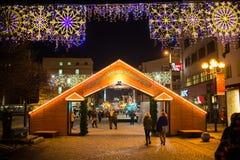 Marché de Noël à Wroclaw Pologne, photographie stock libre de droits