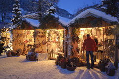 Marché de Noël Photos libres de droits
