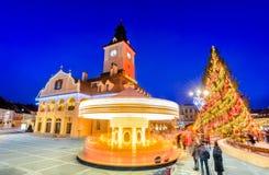 Marché de Noël, Brasov, la Transylvanie, Roumanie image libre de droits