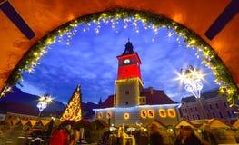 Marché de Noël, Brasov, Roumanie Image libre de droits