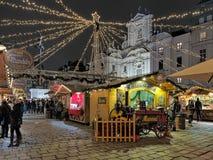 Marché de Noël d'AM Hof à Vienne, Autriche Photo libre de droits