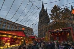 Marché de Noël de Cologne Photos libres de droits
