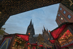 Marché de Noël de Cologne Photo stock