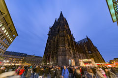 Cologne Christmas market at night