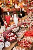 Marché de Noël de décorations de Noël Image stock