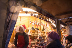 Marché de Noël en Russie Photo stock