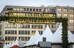Marché de Noël de Gendarmenmarkt à Berlin, Allemagne photographie stock