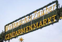 Marché de Noël de Gendarmenmarkt à Berlin, Allemagne image stock