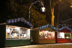 Christmas Market on Place Carnot in Lyon Stock Photo