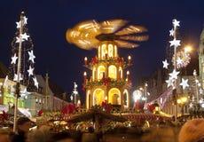 Marché de Noël, ville européenne de Wroclaw de la culture 2016 Photographie stock libre de droits