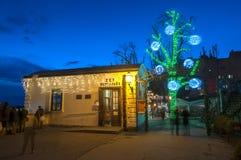 Marché de Noël, Zagreb, Croatie images stock