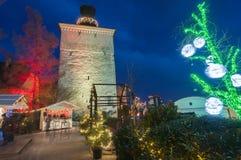Marché de Noël, Zagreb, Croatie image libre de droits